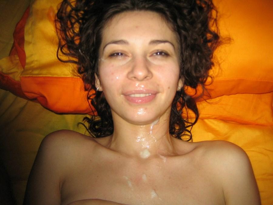 лицо в сперми фото