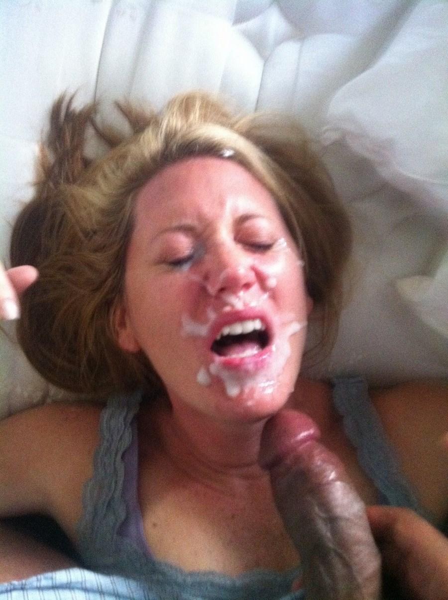 Фото домашнее женщин со спермой на лице 6 фотография